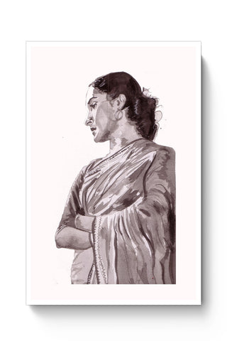 Posters Online | The Nutan | Sketch Painting Poster Online India | Designed by: HeartAtArt