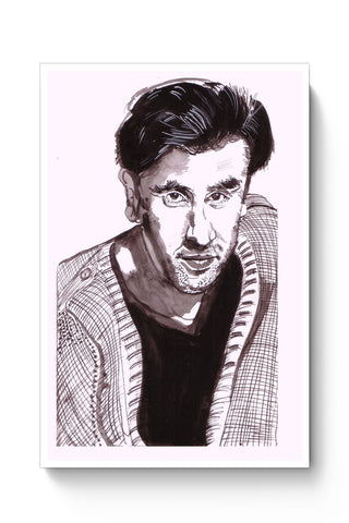 Posters Online | Ranbir Kapoor | Sketch Painting Poster Online India | Designed by: HeartAtArt