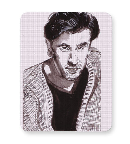 Buy Mousepads Online India | Ranbir Kapoor | Sketch Painting Mouse Pad Online India