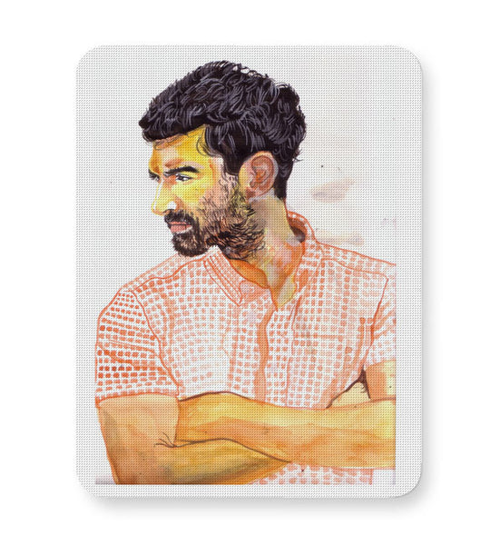 Buy Mousepads Online India | Arjun Roy Kapoor Portrait Painting Mouse Pad Online India