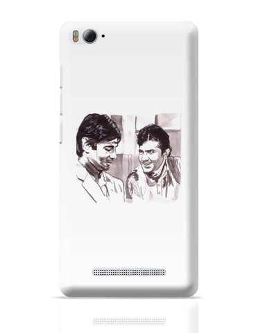 Xiaomi Mi 4i Covers | Rajesh Khanna And Amitabh Bachchan | Deewar Portrait Painting Xiaomi Mi 4i Cover Online India