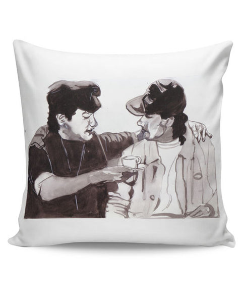 PosterGuy | Aamir Khan And Salman Khan Andaz Apna Apna Painting Cushion Cover Online India