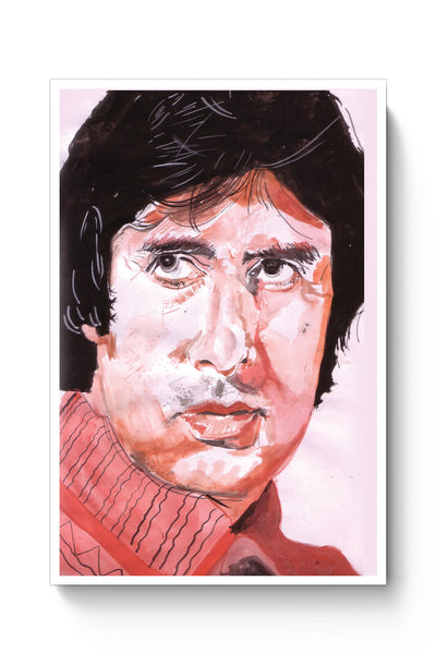 Posters Online | Amitabh Bachchan Painting Poster Online India | Designed by: HeartAtArt