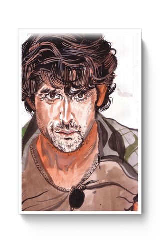 Posters Online | Hrithik Roshan Painting Poster Online India | Designed by: HeartAtArt