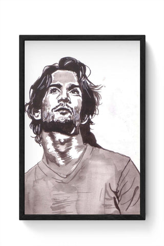 Framed Posters Online India | Sushant Singh Rajput Bollywood Painting Framed Poster Online India