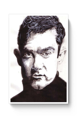 Posters Online | Aamir Khan Bollywood Painting Poster Online India | Designed by: HeartAtArt