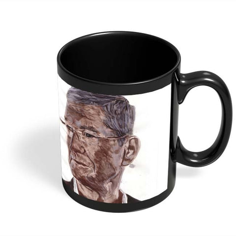 Coffee Mugs Online | Tim Cook Bollywood Painting Black Coffee Mug Online India