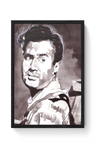 Framed Posters Online India | Unique Dev Anand Bollywood Painting Framed Poster Online India