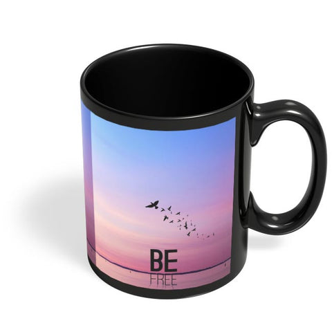 Be Free Black Coffee Mug Online India