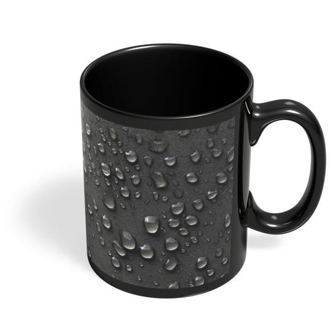 Water Drop Texture Black Coffee Mug Online India