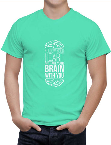Buy Follow Your Heart Woman T-Shirts Online India | Follow Your Heart T-Shirt | PosterGuy.in