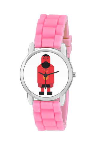 Kids Wrist Watch India | Badass Hip Hop Character in Illustrator Kids Wrist Watch Online India