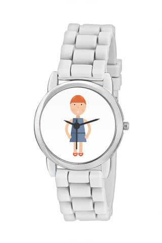 Kids Wrist Watch India | Cartoon Characters Cute Girl Illustration Kids Wrist Watch Online India