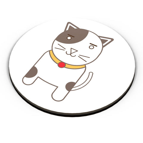 PosterGuy | Happy Cat Cartoon Fridge Magnet Online India by Designer Chennai
