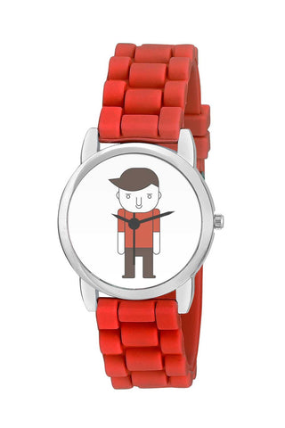 Kids Wrist Watch India | Angry Boy Cartoon Character Kids Wrist Watch Online India