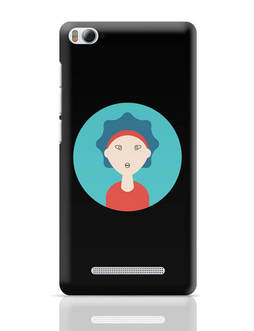 Xiaomi Mi 4i Covers | Curly Hair For Women Illustration Character Xiaomi Mi 4i Cover Online India
