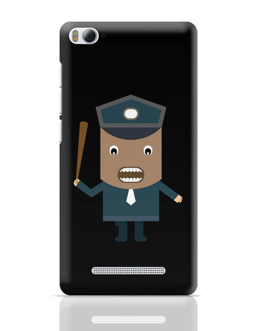 Xiaomi Mi 4i Covers | Police Officer Holding A Baton Weapon Xiaomi Mi 4i Cover Online India