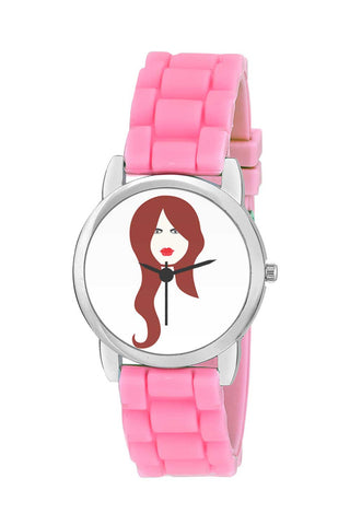 Kids Wrist Watch India | Brown Hair Woman Kids Wrist Watch Online India