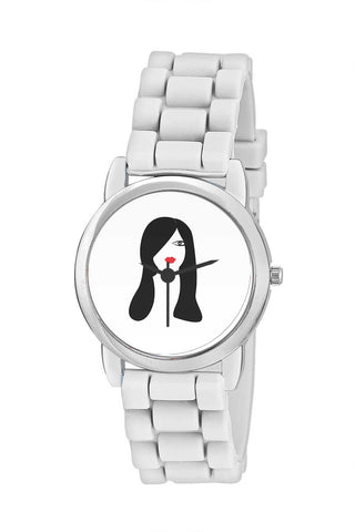 Kids Wrist Watch India | Beautiful Black Hair Woman Vector Kids Wrist Watch Online India