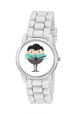 Kids Wrist Watch India | Amazing Businessman Cartoon Character Illustration Kids Wrist Watch Online India