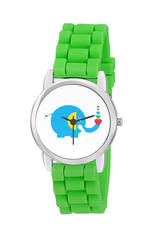 Kids Wrist Watch India | Blue Baby Elephant With Hearts Kids Wrist Watch Online India