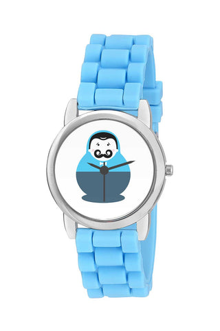Kids Wrist Watch India | Cute And Fat Boy Children With Big Mustache Character Kids Wrist Watch Online India