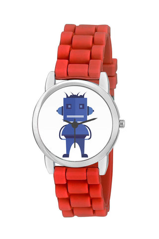 Kids Wrist Watch India |  Cool Blue Robot Character In Illustrator Kids Wrist Watch Online India