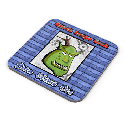 Buy Coasters Online | Orc Head Wanted Coaster Online India | PosterGuy.in