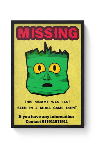 Green Mummy Framed Poster Online India