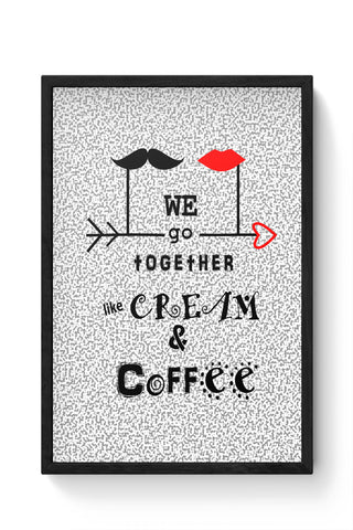 Framed Posters Online India | Cream & Coffee Love ~ By Artflair Laminated Framed Poster Online India