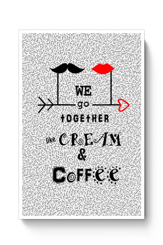 Posters Online | Cream & Coffee Love ~ By Artflair Poster Online India | Designed by: Kamalpreet
