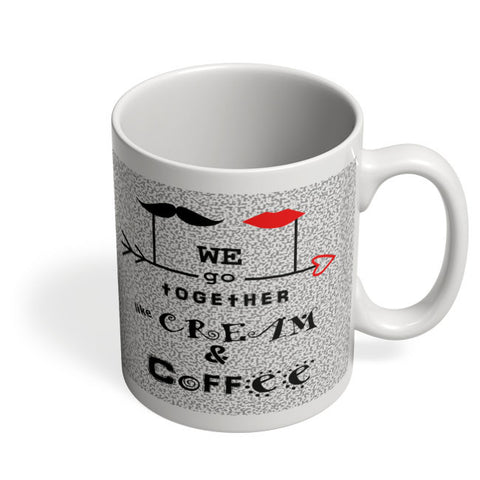 Coffee Mugs Online | Cream & Coffee Love ~ By Artflair Mug Online India