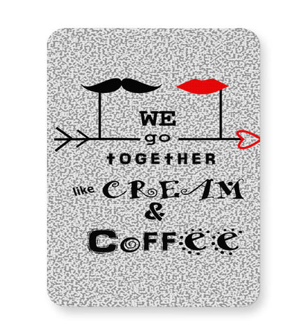Buy Mousepads Online India | Cream & Coffee Love ~ By Artflair Mouse Pad Online India
