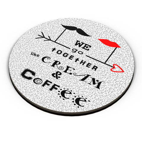 PosterGuy | Cream & Coffee Love ~ By Artflair Fridge Magnet Online India by Kamalpreet