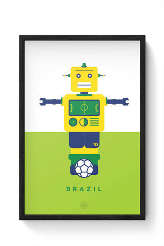 Framed Posters Online India | Robot Foosball Brazil Framed Poster Online India