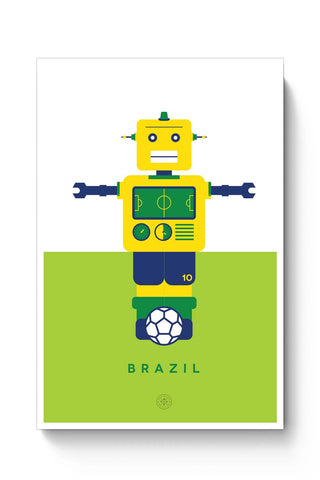Posters Online | Robot Foosball Brazil Poster Online India | Designed by: The Design Caravan
