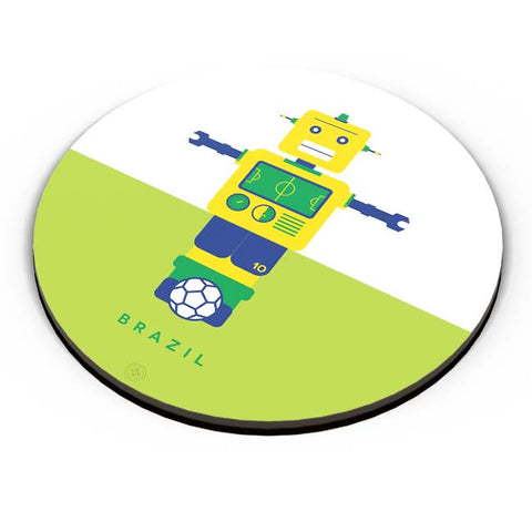 PosterGuy | Robot Foosball Brazil Fridge Magnet Online India by The Design Caravan