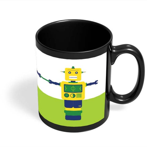 Coffee Mugs Online | Robot Foosball Brazil Black Coffee Mug Online India