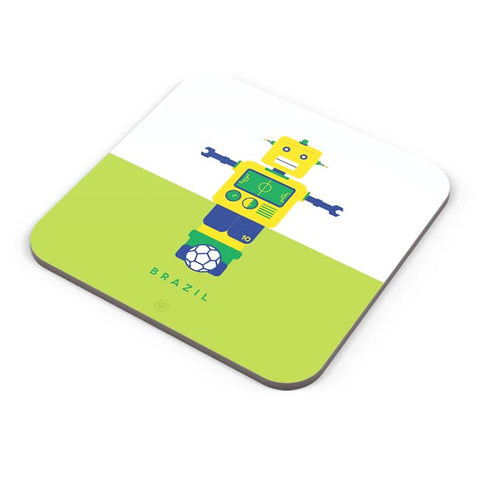 Buy Coasters Online | Robot Foosball Brazil Coaster Online India | PosterGuy.in