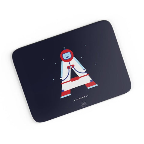 Alphabet People - Astronaut A4 Mousepad Online India