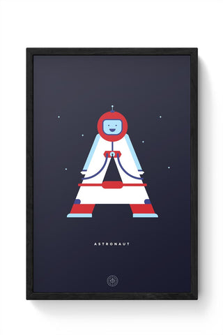 Alphabet People - Astronaut Framed Poster Online India