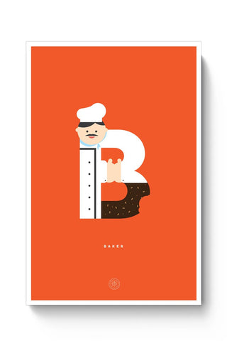 Alphabet People - Baker Poster Online India