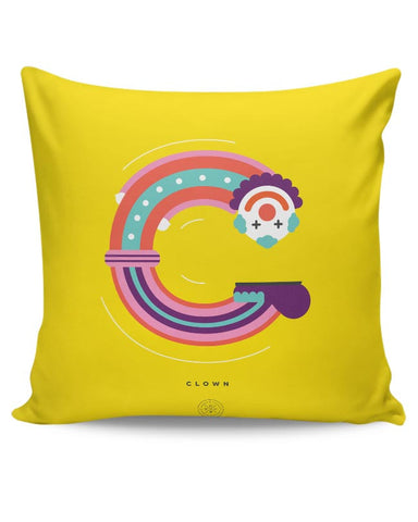 Alphabet People - Clown Cushion Cover Online India