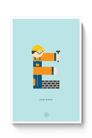 Alphabet People - Engineer Poster Online India