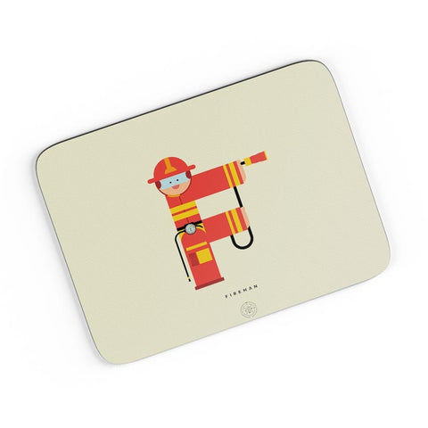 Alphabet People - Fireman A4 Mousepad Online India