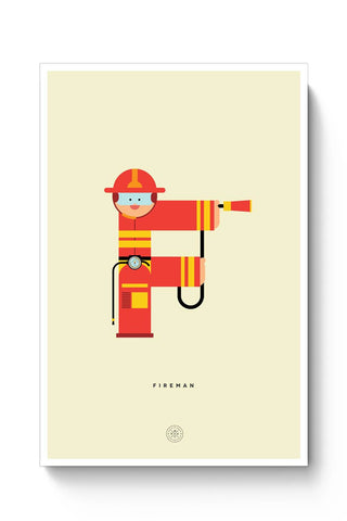 Alphabet People - Fireman Poster Online India