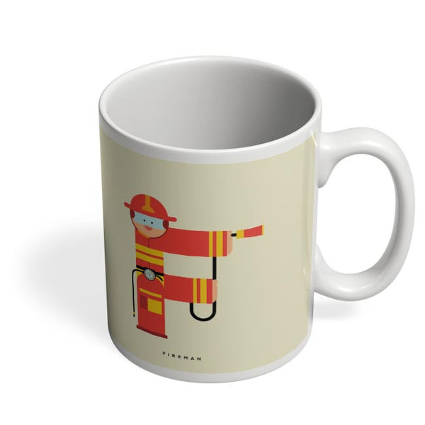 Alphabet People - Fireman Coffee Mug Online India