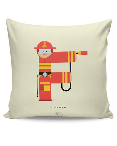 Alphabet People - Fireman Cushion Cover Online India