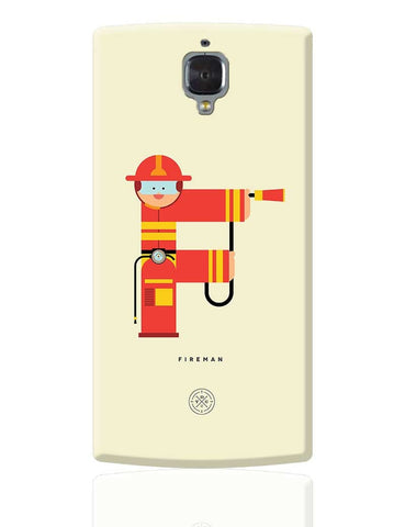 Alphabet People - Fireman OnePlus 3 Cover Online India