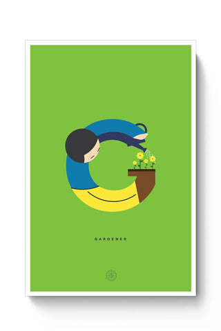 Alphabet People - Gardener Poster Online India